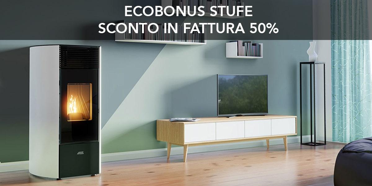 Stufe a pellet Artel sconto Ecobonus 50%